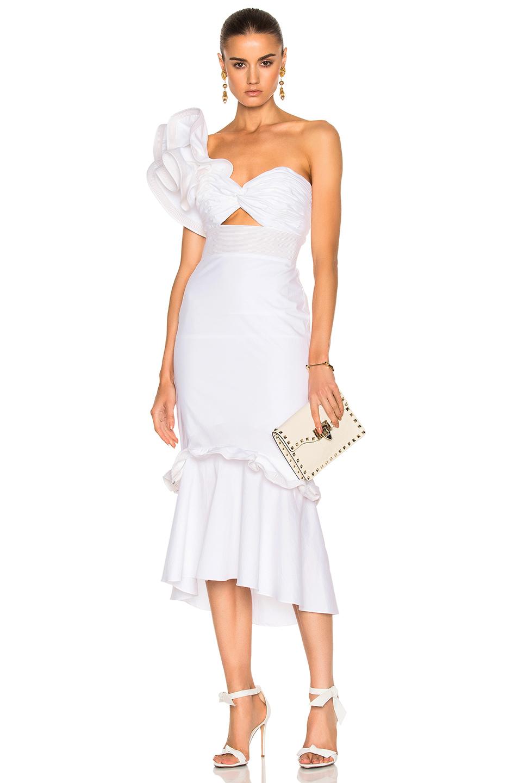 Johanna Ortiz Maloka Cotton Poplin Dress in White