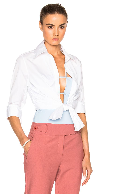Johanna Ortiz Victory Shirt With Bodysuit in White