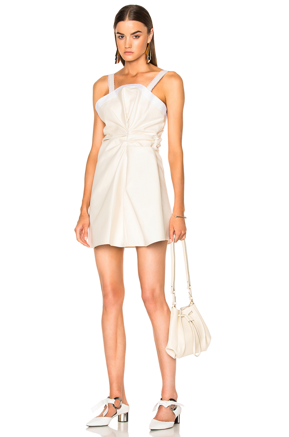JACQUEMUS Sleeveless Dress in Neutrals,White