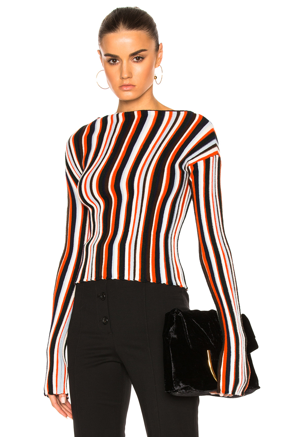 JACQUEMUS Striped Sweater in Stripes,Red