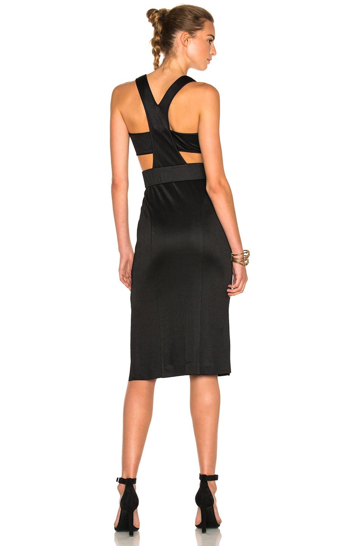 JONATHAN SIMKHAI Mini Milano Dress in Black