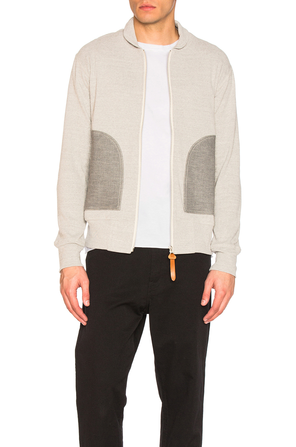 Junya Watanabe Cotton Circular Rib Sweatshirt in Gray