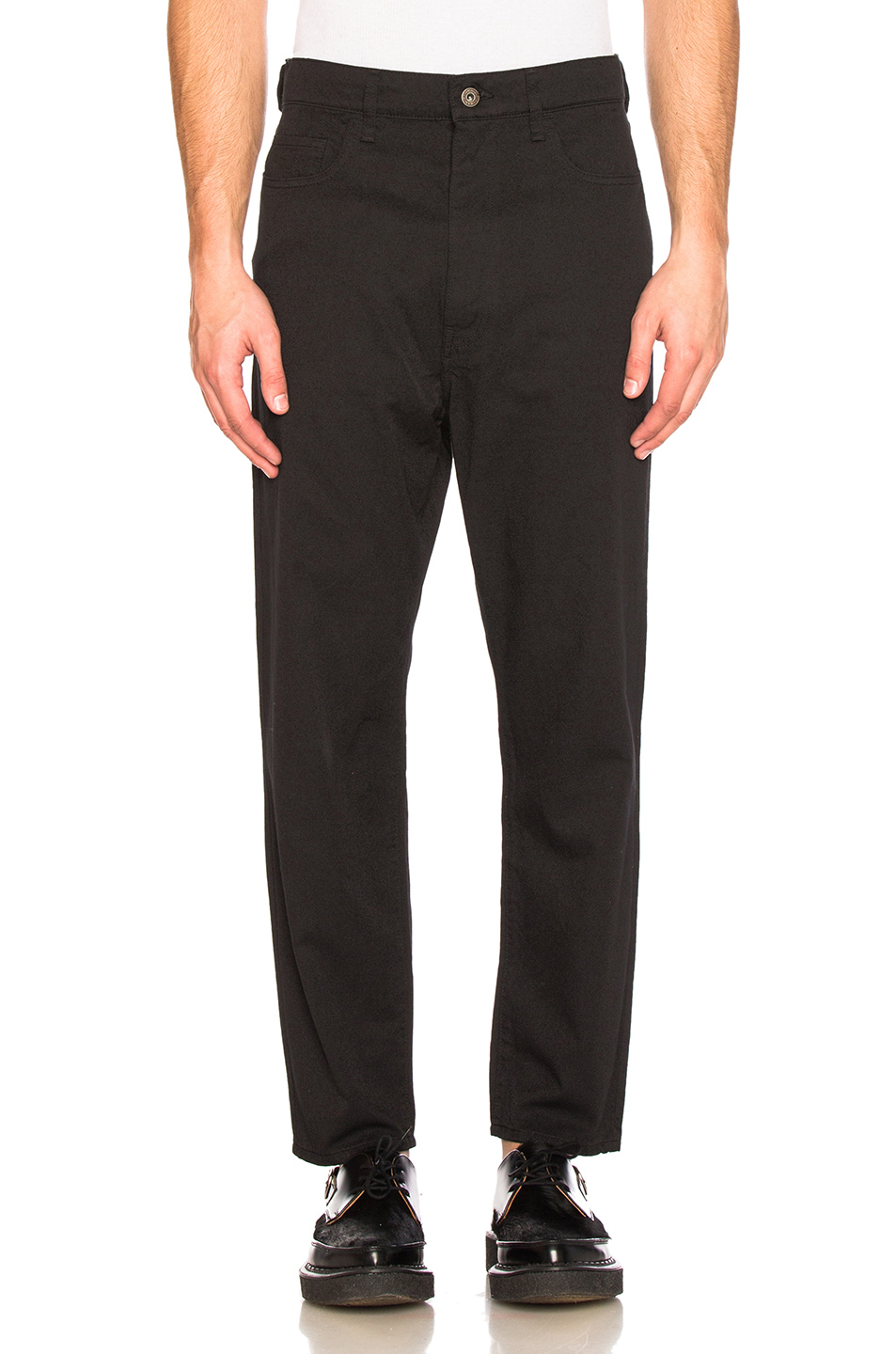 Junya Watanabe Cotton Polyester Twill Pants in Black