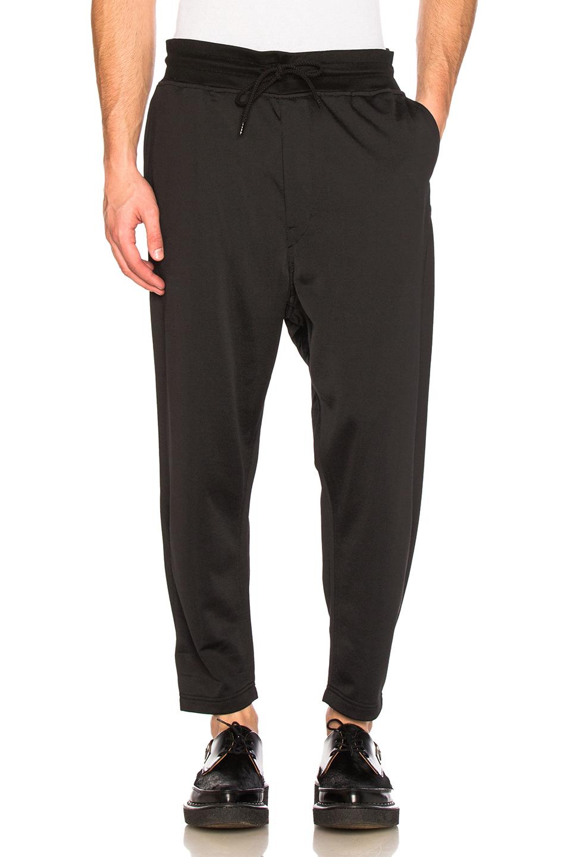 Junya Watanabe Nylon Cotton Loopback Sweatpants in Black