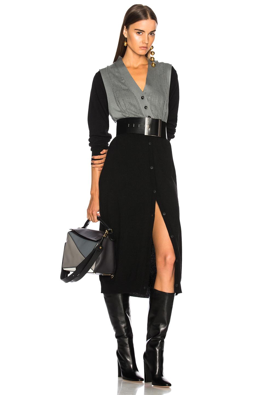 J.W. Anderson Cardigan Dress in Black