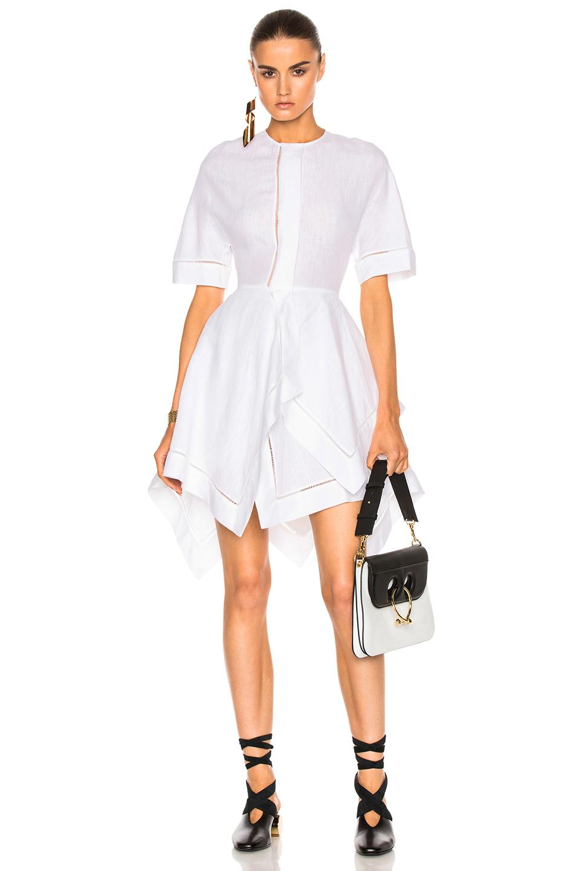 J.W. Anderson Handkerchief Dress in White