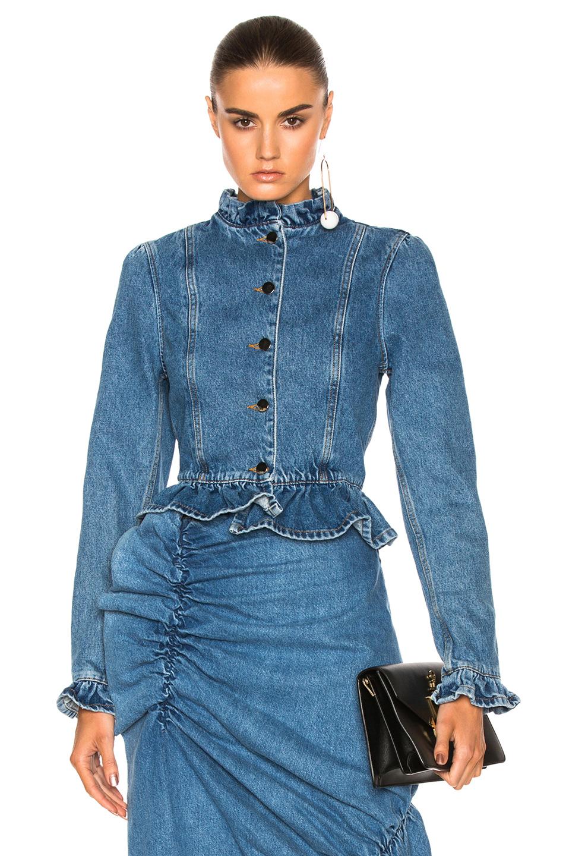 J.W. Anderson Ruffle Jacket in Blue