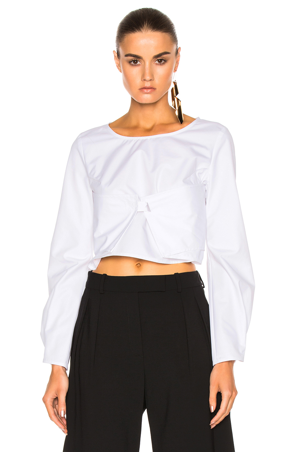J.W. Anderson Long Sleeve Top in White