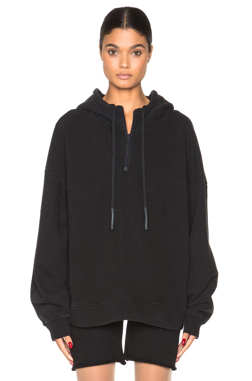 Kanye West x Adidas Originals Half Zip Hoodie in Black