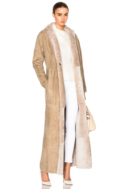 KAUFMANFRANCO Merino Shearling Coat in Neutrals