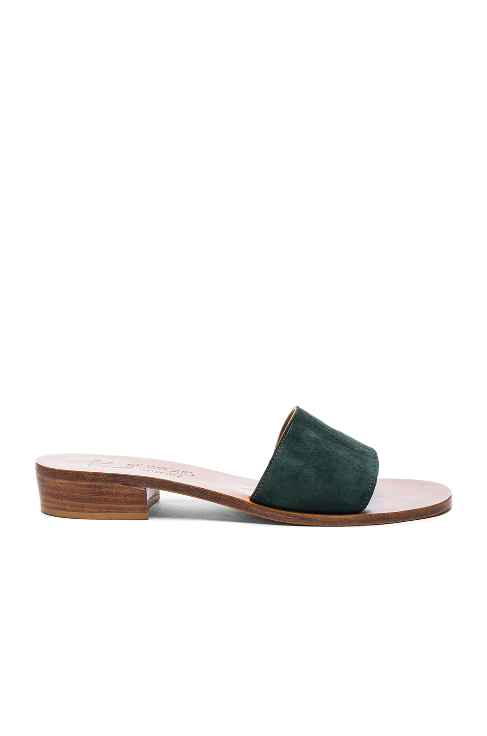 K Jacques Suede Sevan Sandals in Green