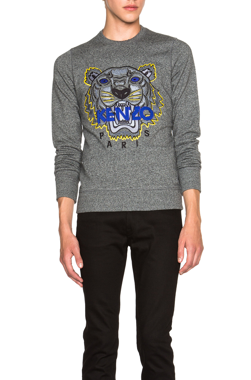 KENZO Icons Tiger Sweatshirt in Gray
