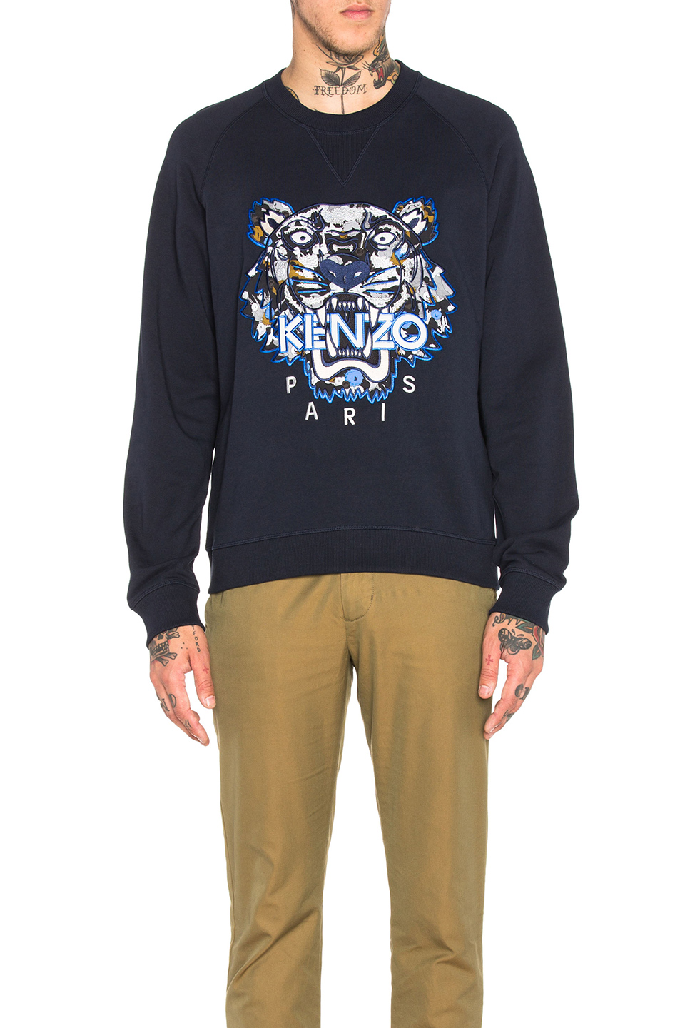 KENZO Moon Map Tiger Sweatshirt in Blue