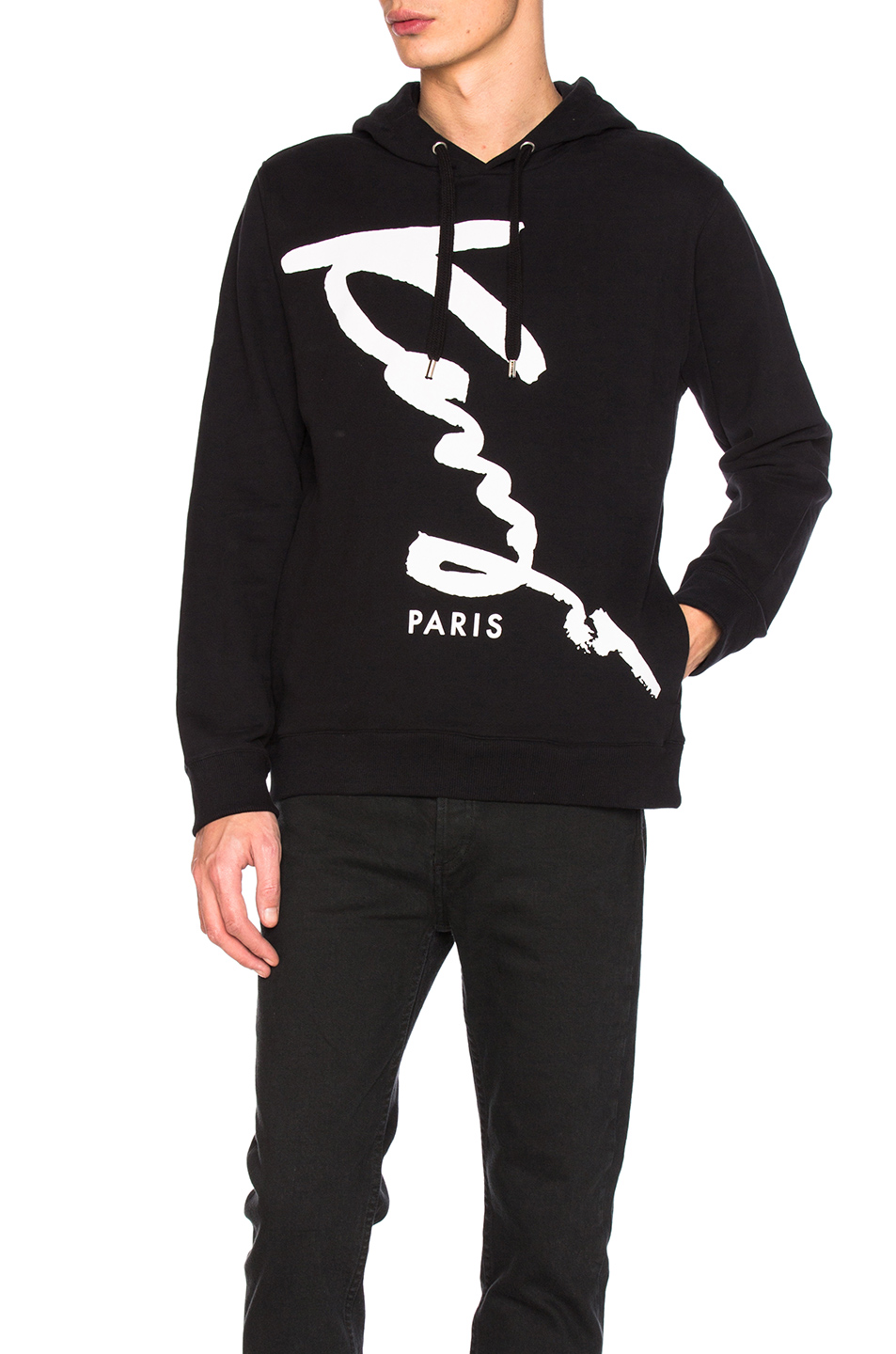 Kenzo Cotton Hoodie in Black