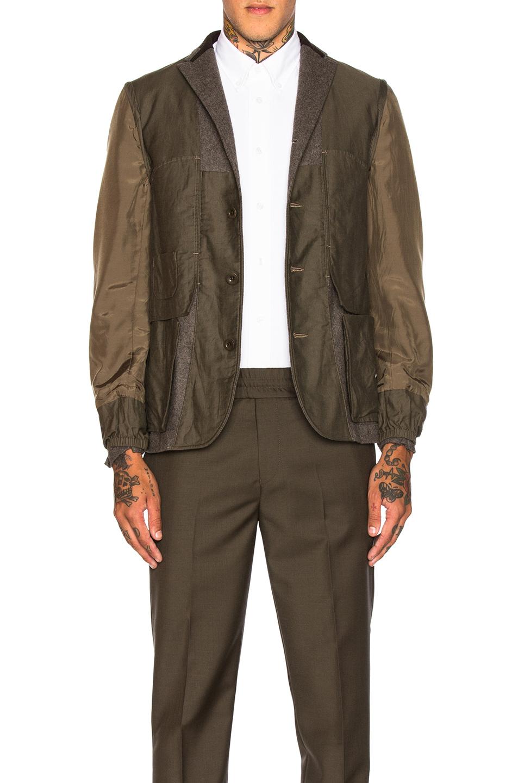 Photo of kolor BEACON Blazer in Green - shop kolor BEACON menswear