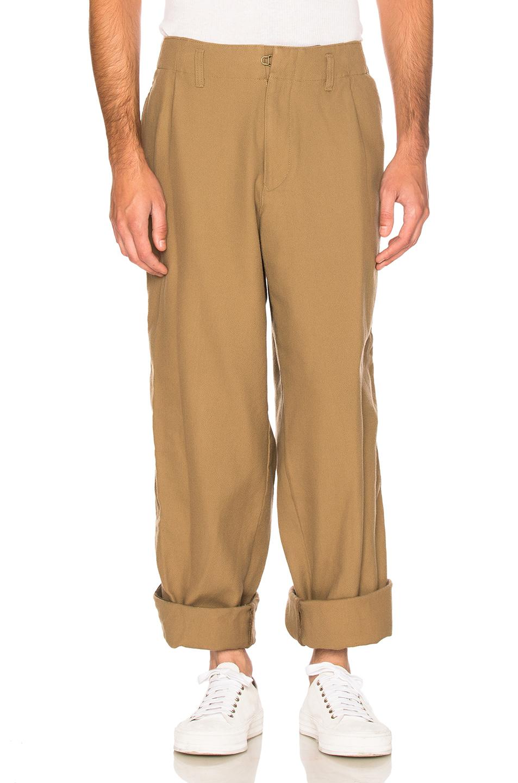 kolor BEACON Cotton Wool Trousers in Neutrals