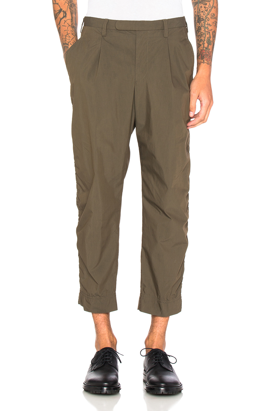 kolor BEACON Elastic Waistband Trousers in Green