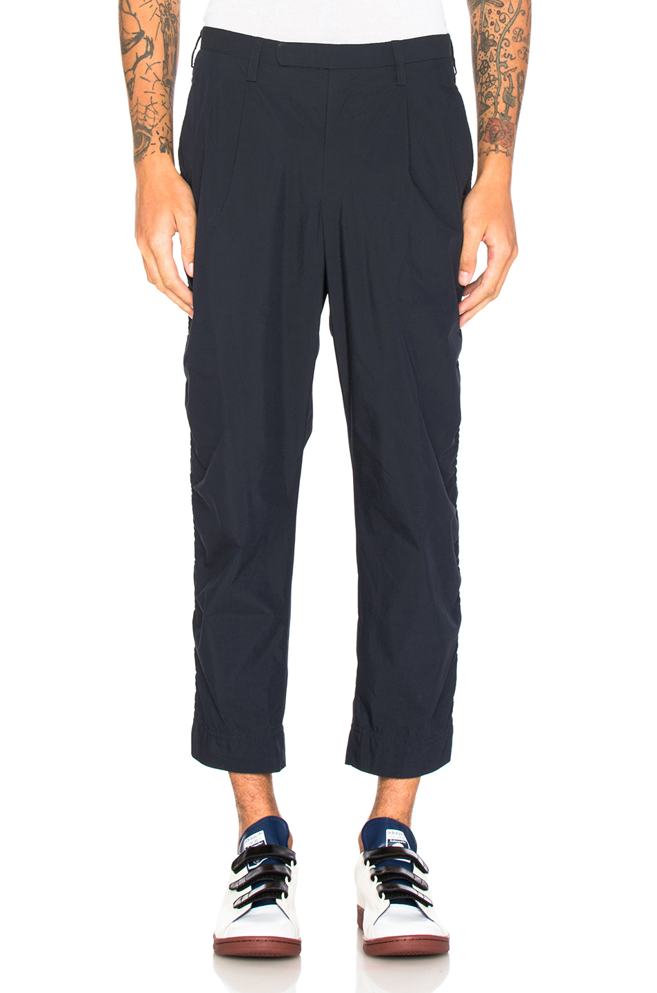 kolor BEACON Elastic Waistband Trousers in Blue
