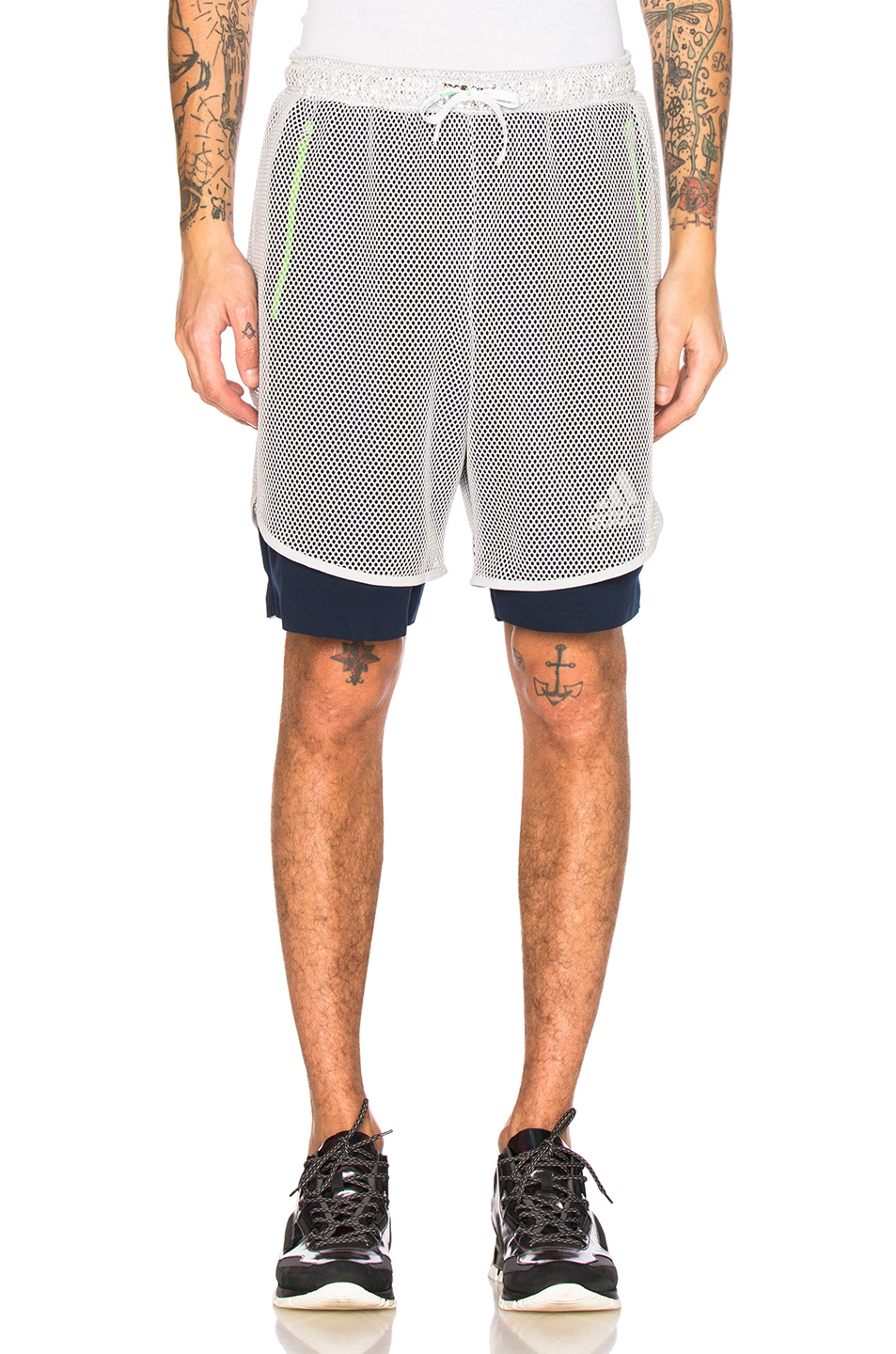 kolor x Adidas Climachill Shorts in Gray