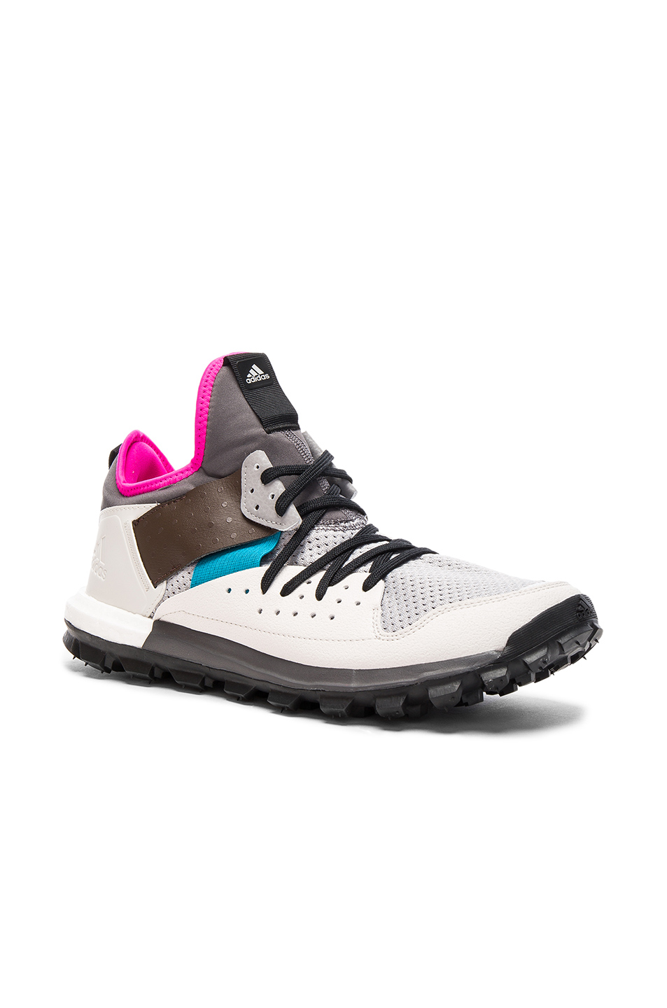 kolor x Adidas Knit Response Trail Sneakers in Gray