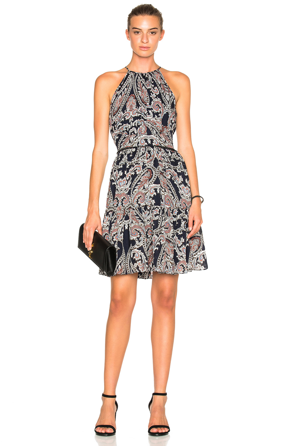 L'AGENCE Alyse Dress in Blue,Abstract