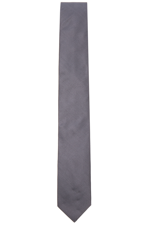 Lanvin Grosgrain Tie in Gray