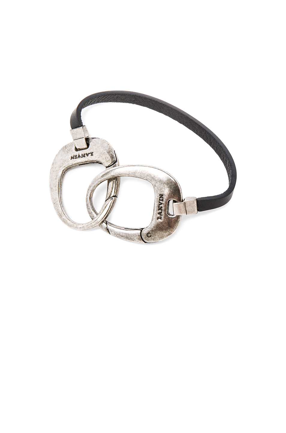 Lanvin Bracelet in Black,Metallics