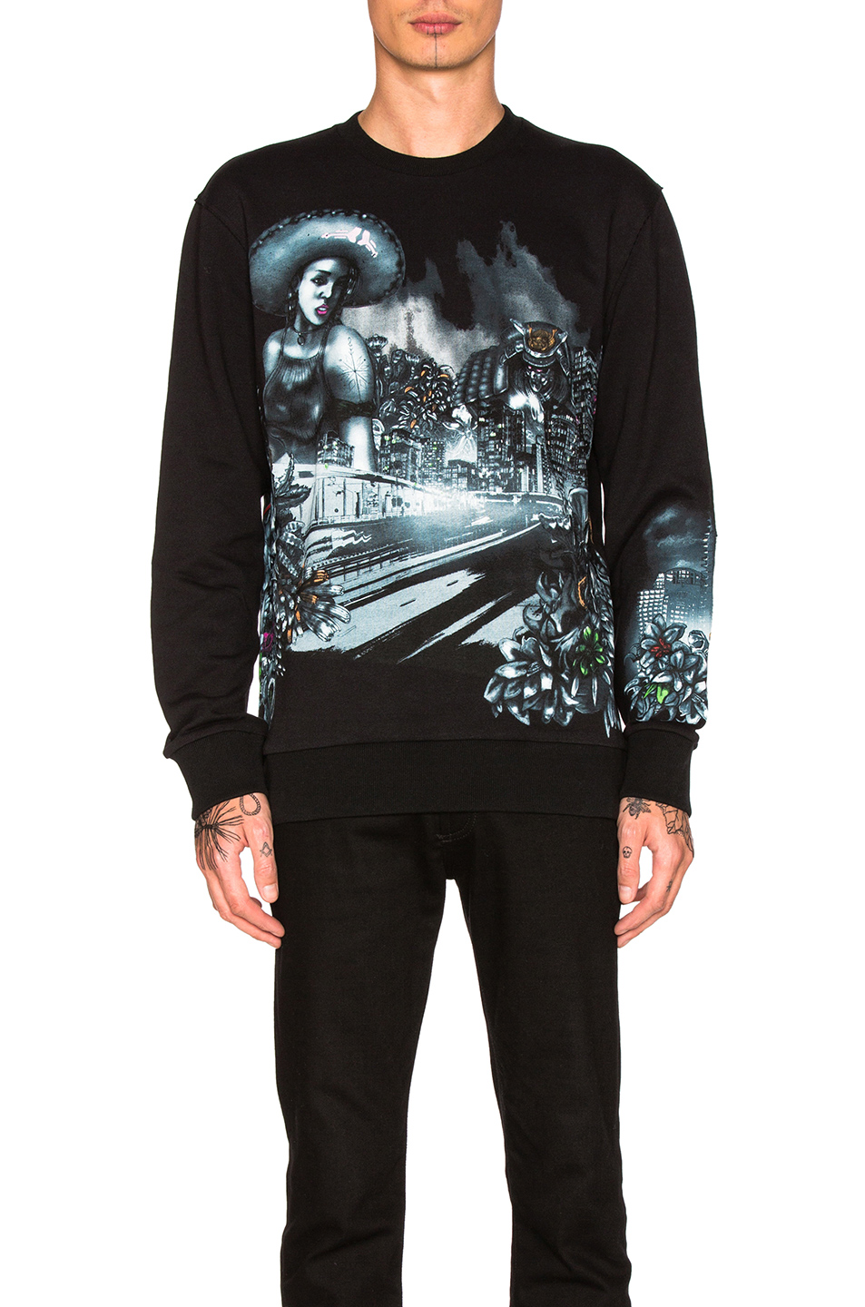 Lanvin Graphic Sweatshirt in Black