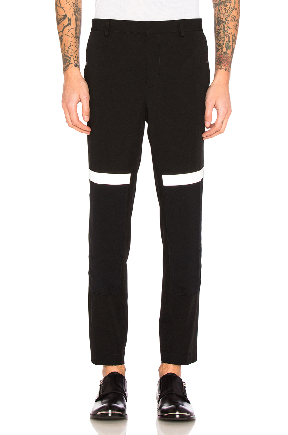 Lanvin Reflective Stripe Trousers in Black