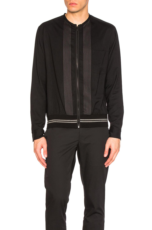 Photo of Lanvin Zip Blouse in Black - shop Lanvin menswear