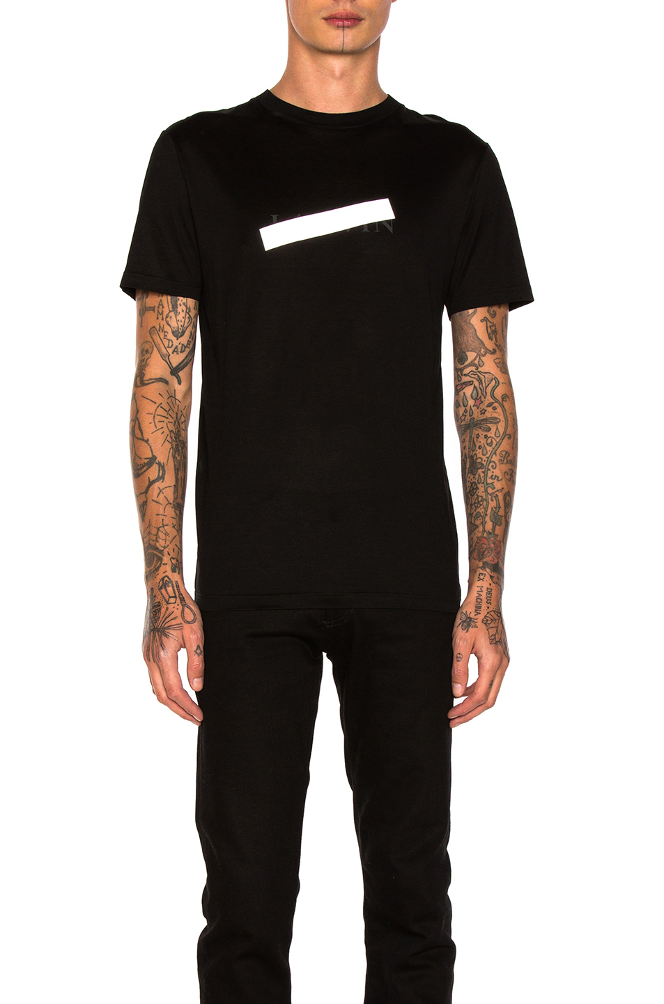 Lanvin Graphic Tee in Black