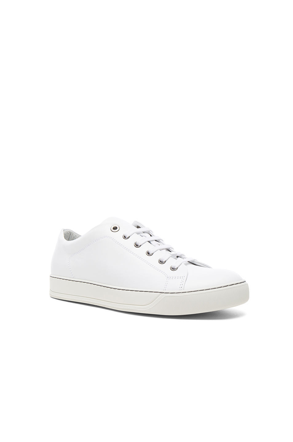 Lanvin Leather Sneakers in White