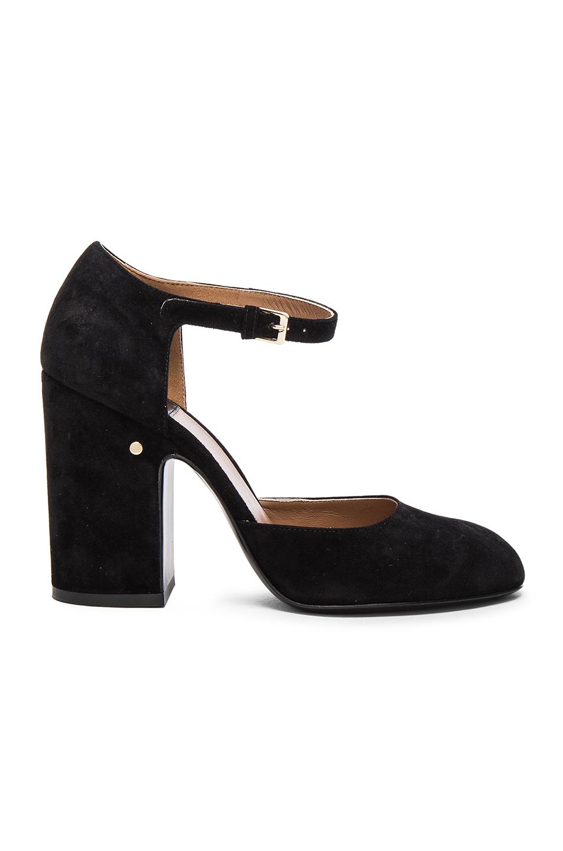 Laurence Dacade Suede Mindy Heels in Black