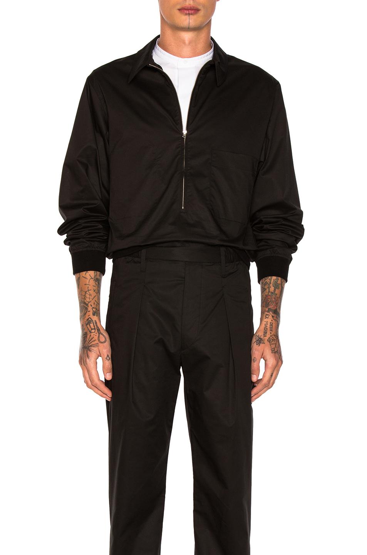 Lemaire Zip Blouson in Black