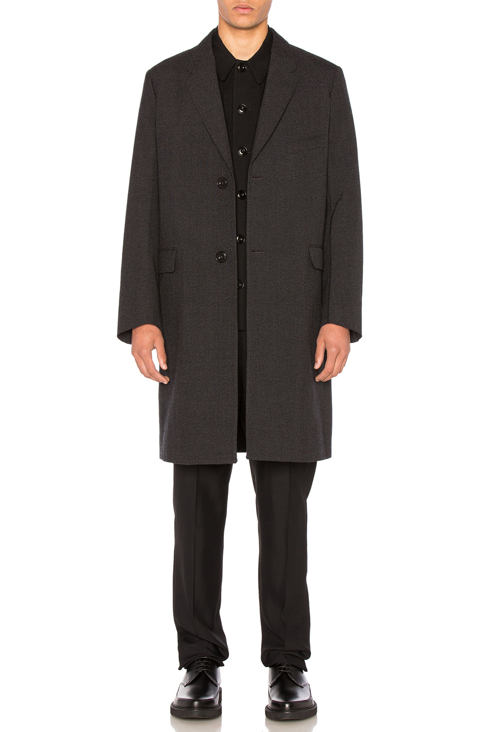 Lemaire Wool Suit Coat in Black