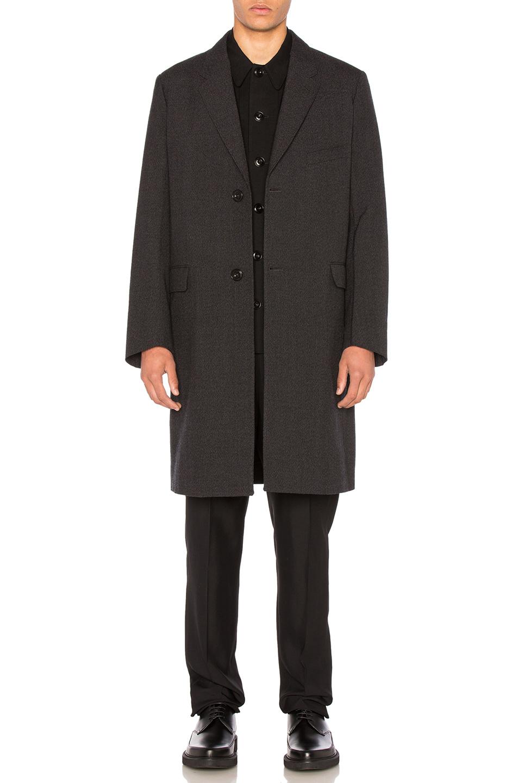 Lemaire Wool Suit Coat in Black