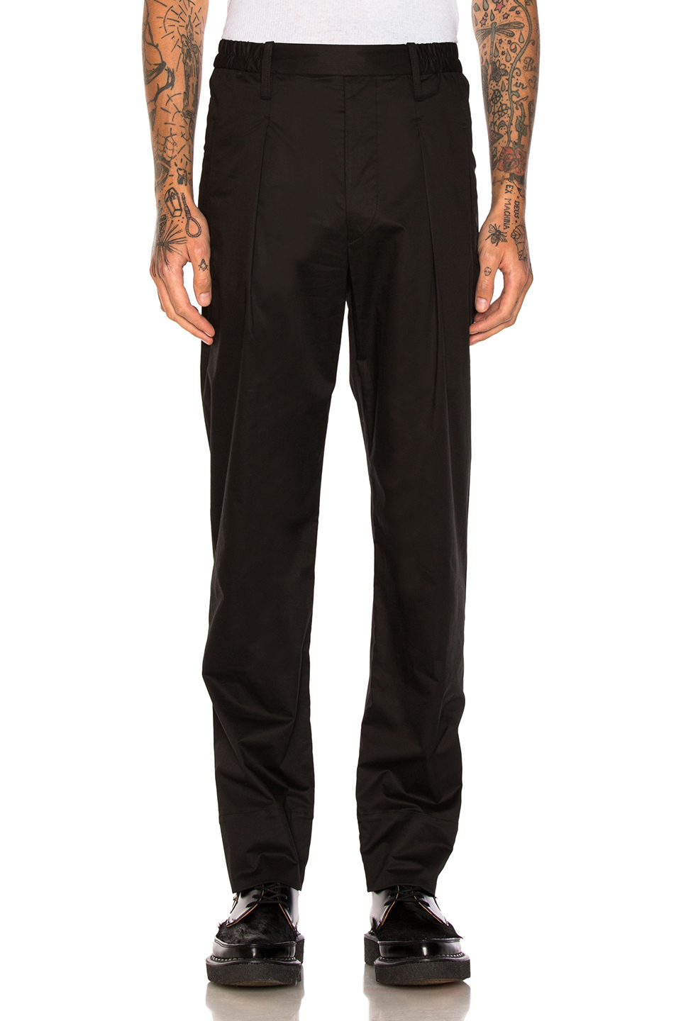 Lemaire Elasticated Pants in Black