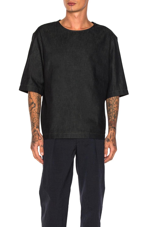 Lemaire Denim Short Sleeve Shirt in Blue