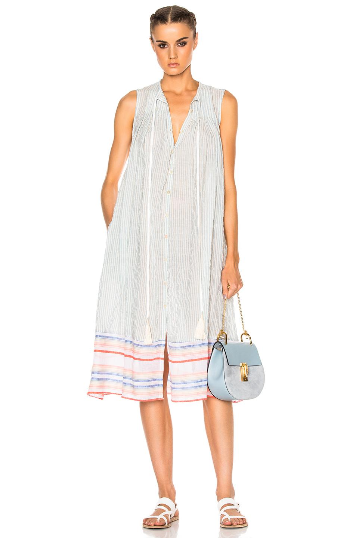 Lemlem Afia Dress in Blue,Stripes