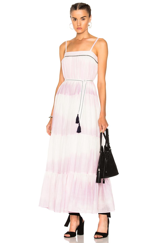 Lemlem Berhan Sun Dress in Stripes,Ombre & Tie Dye,Pink,Purple