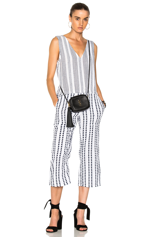 Lemlem Yeshi Jumpsuit in Geometric Print,Stripes,White