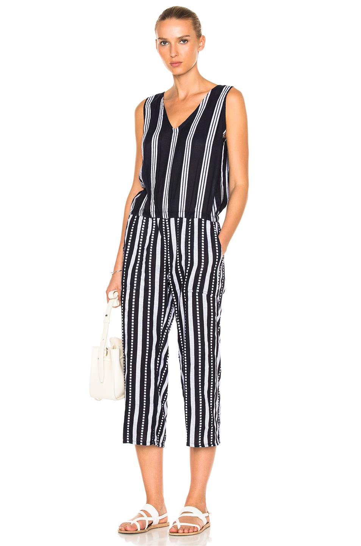 Lemlem Edna Jumpsuit in Blue,Stripe,White