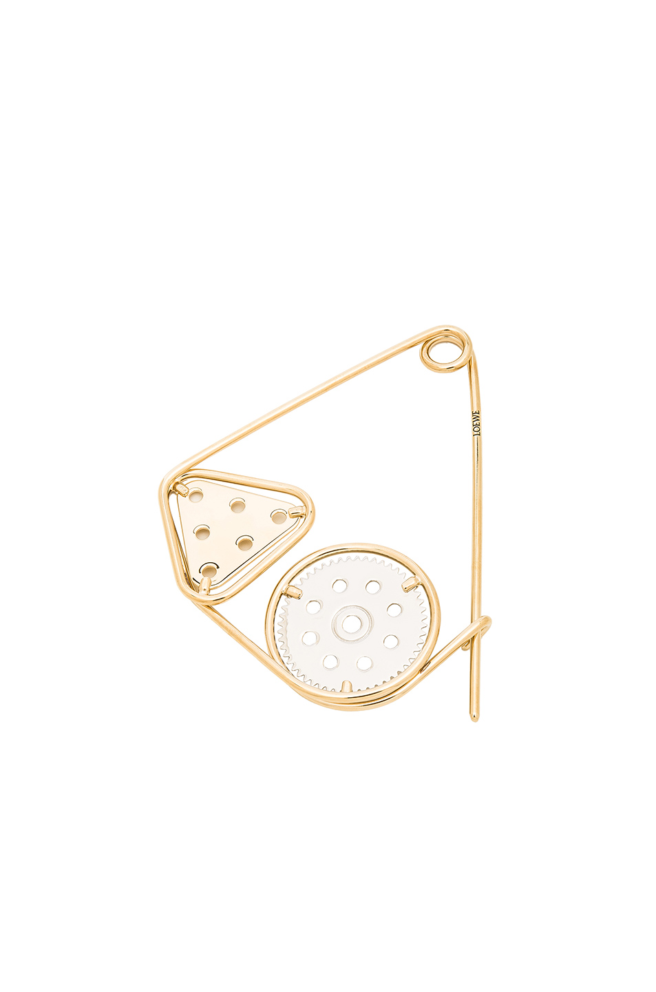Loewe Double Meccano Pin in Metallics