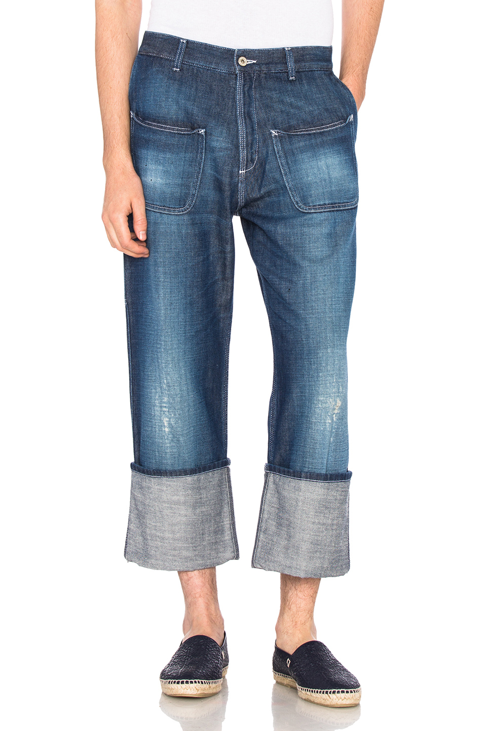 Loewe Patch Pocket Jeans in Blue