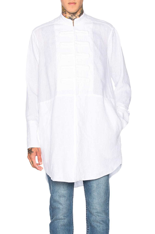 Loewe Plastron Oversize Shirt in White