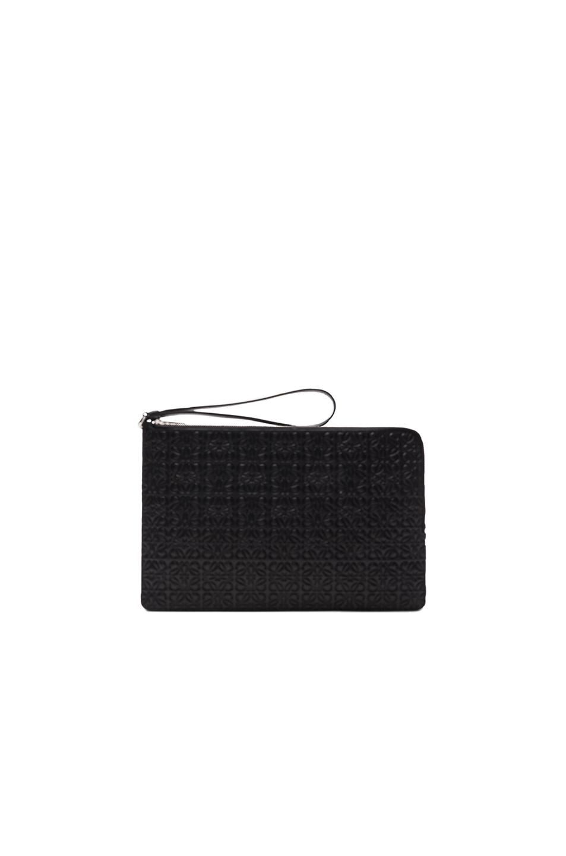 Loewe Double Flat Pouch in Black