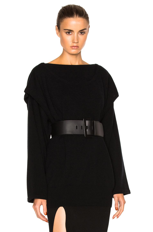 Loewe Double Layer Sweater in Black