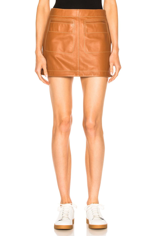 Loewe Mini Skirt in Brown,Neutrals