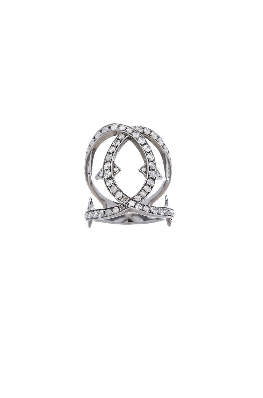 Loree Rodkin Spiked Diamond Loop Ring in Metallics