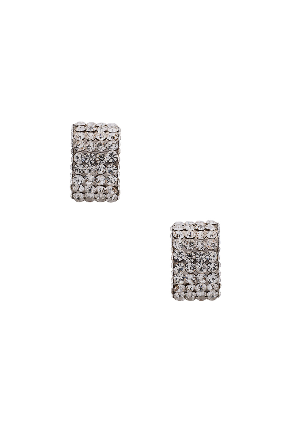 Magda Butrym Large Silver Zirconia Earrings in Metallics